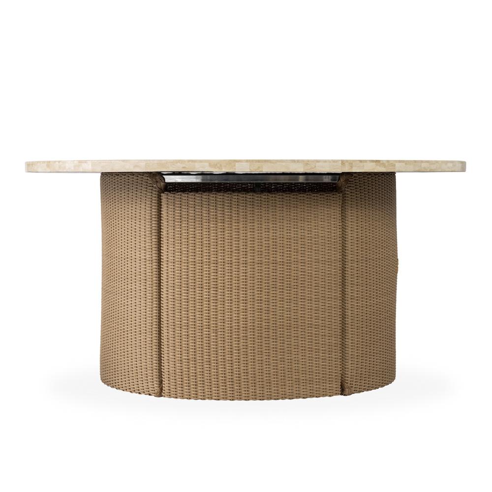 lloyd flanders lloyd loom wicker fire table 86299. Black Bedroom Furniture Sets. Home Design Ideas