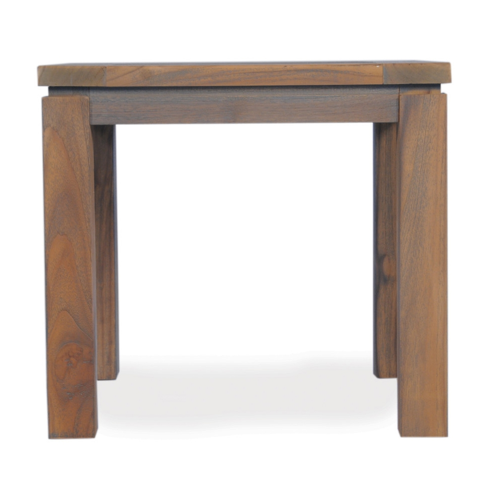 Lloyd Flanders 24 inch Square Distressed Teak End Table - 286043