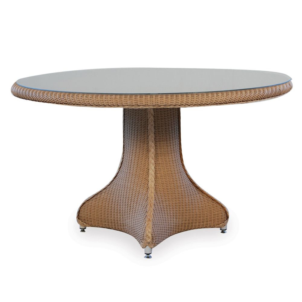 Lloyd Flanders 48 Quot Round Wicker Pedestal Dining Table 86219