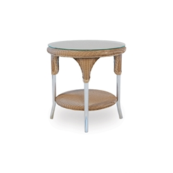 Lloyd Flanders 24 inch Round End Table with Shelf - 86224