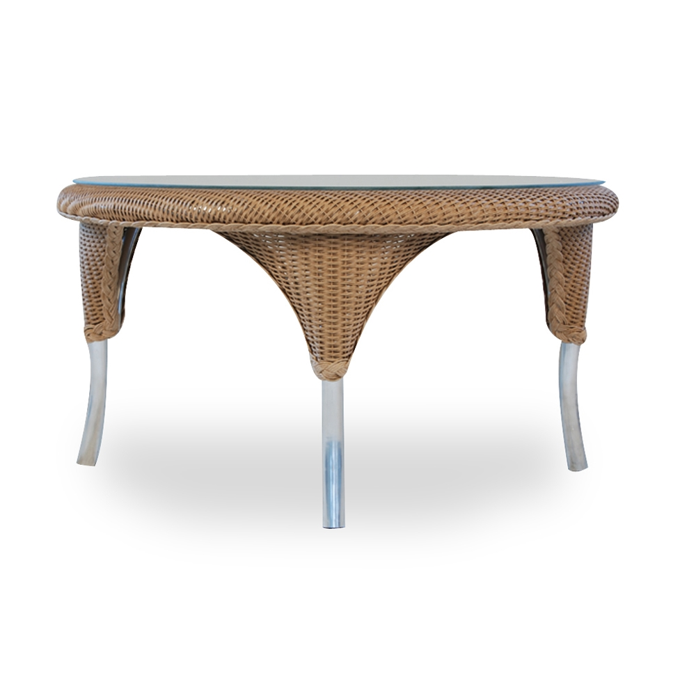 Lloyd Flanders 34 inch round Woven Top Cocktail Table - 86237