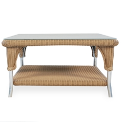 Lloyd Flanders 35 inch square Woven Top Cocktail Table - 86244
