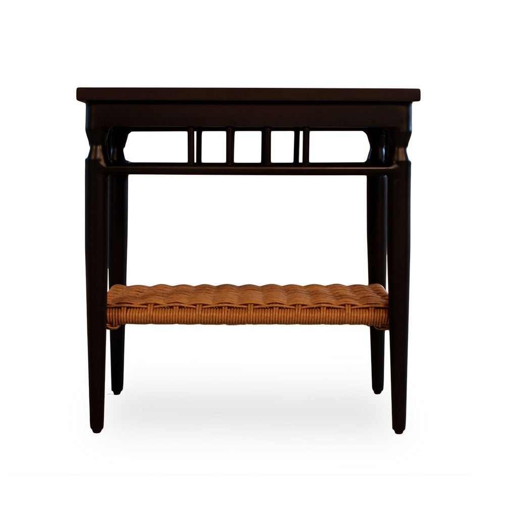 Lloyd flanders low country woven vinyl end table 77343 for Low end table