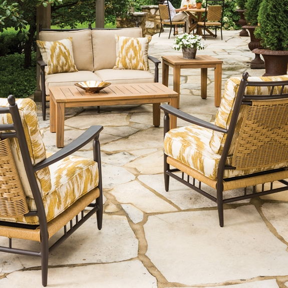 Lloyd Flanders Low Country Vinyl Wicker Love Seat And Lounge Chair Patio Set Lf Lowcountry Set11