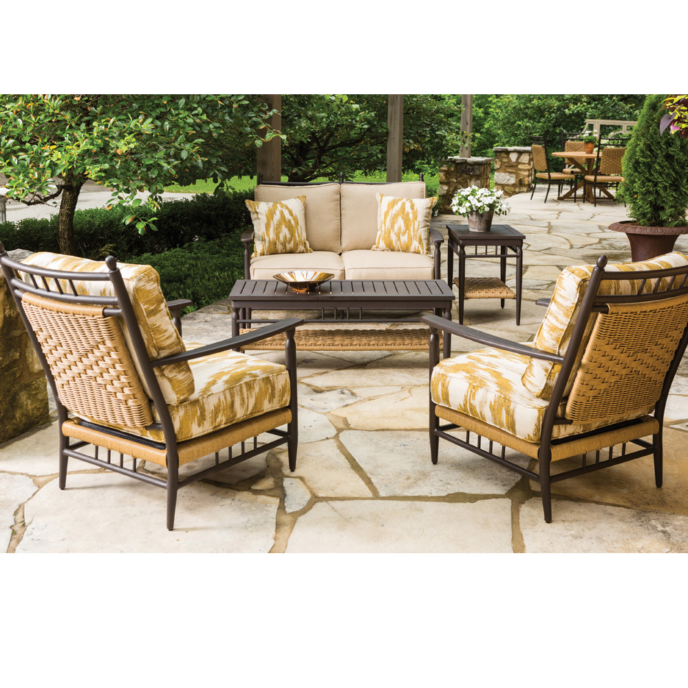 Lloyd Flanders Low Country 5 Piece Wicker Patio Set Lf Lowcountry Set7