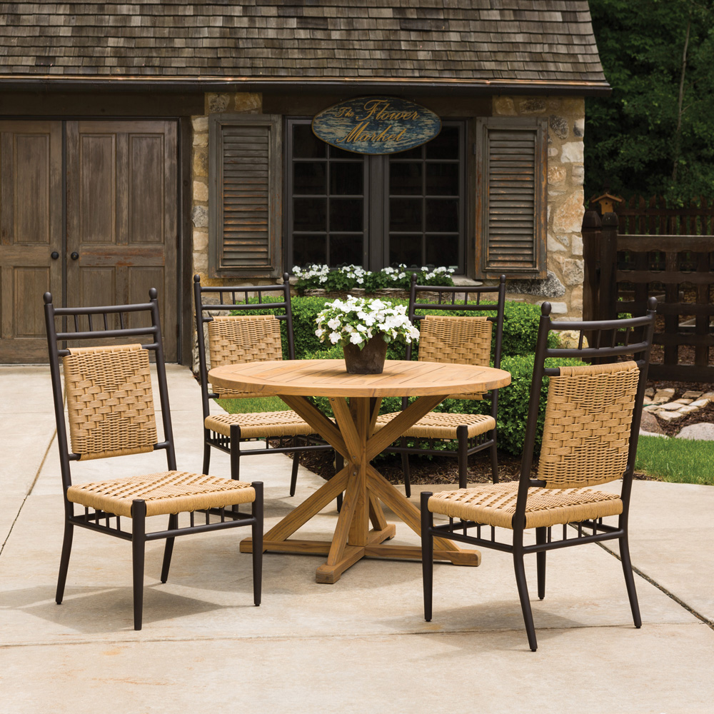 Lloyd Flanders Low Country 5 Piece Woven Vinyl Patio