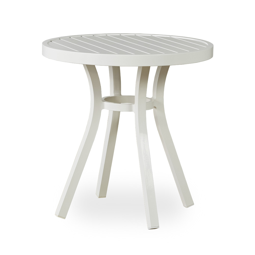 Attirant Lloyd Flanders Lux Modern White 27 Round Bistro Table   54327 801