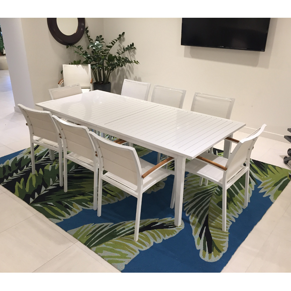 Lloyd Flanders Lux Modern Patio Dining Set With Butterfly Leaf Table    LF LUX