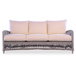 Mackinac Woven Vinyl Wicker Sofa