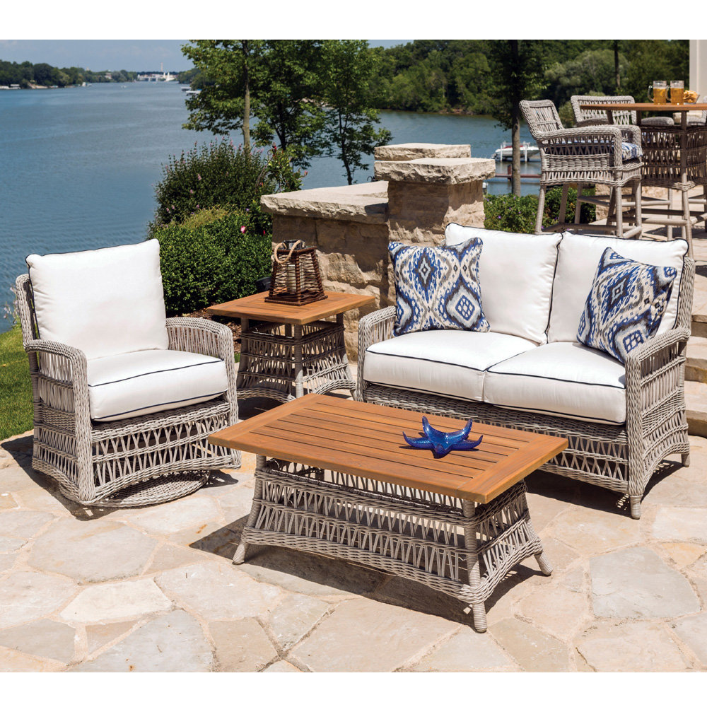 Lloyd Flanders Mackinac Loveseat and Swivel Glider Lounge Chair Set - LF-MACKINAC-SET10
