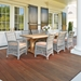 Lloyd Flanders Mackinac Dining Set with Live Edge Teak Table - LF-MACKINAC-SET9