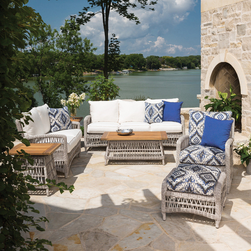 Lloyd Flanders Mackinac 7 Piece Patio Set - LF-MACKINAC-SET3