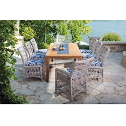 Lloyd Flanders Mackinac Wicker Dining Set with Seating for 8 - LF-MACKINAC-SET4
