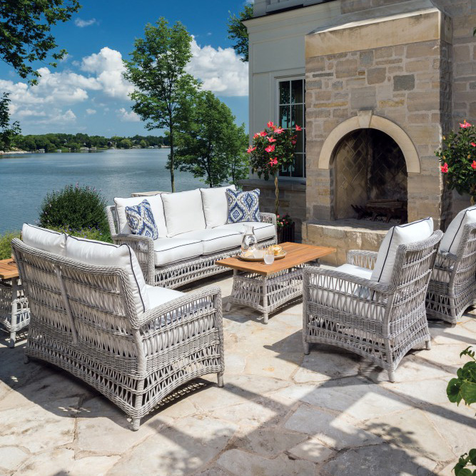Lloyd Flanders Mackinac Wicker Patio Set - LF-MACKINAC-SET5