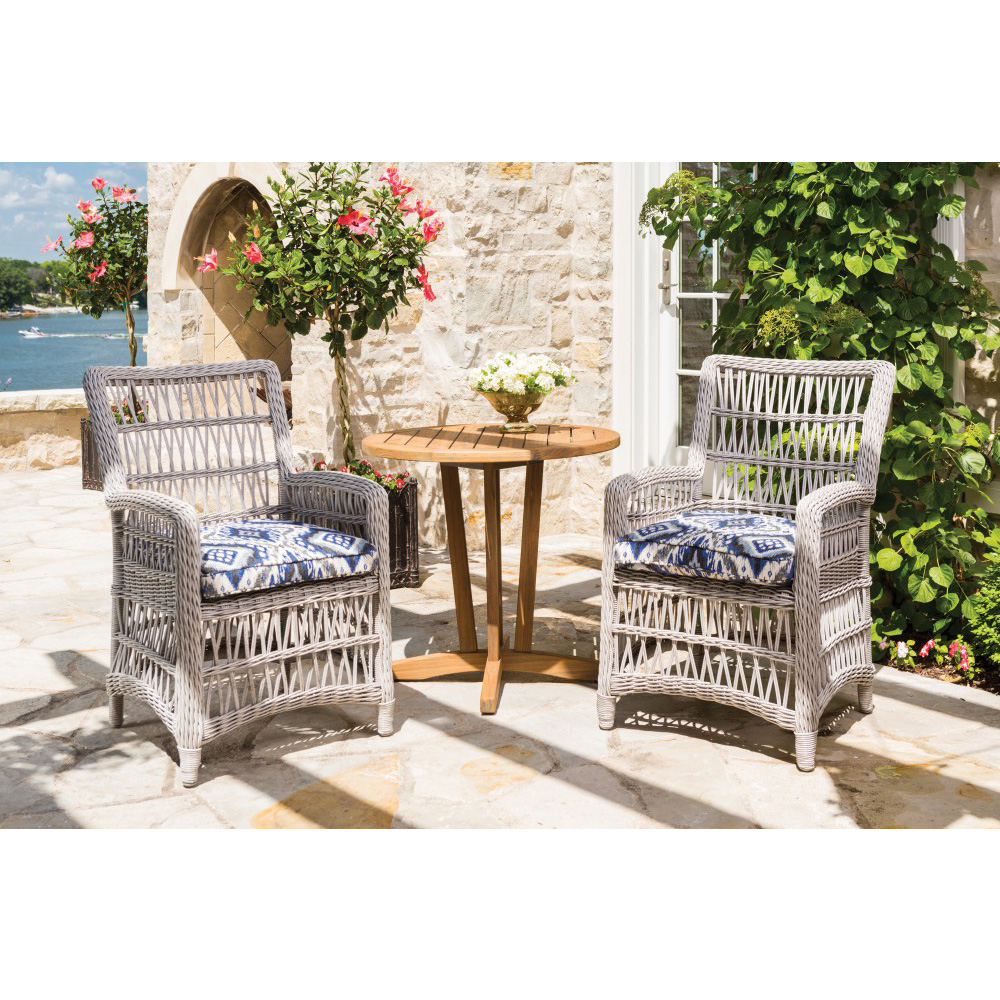 Lloyd Flanders Mackinac Wicker Bistro Dining Set - LF-MACKINAC-SET7