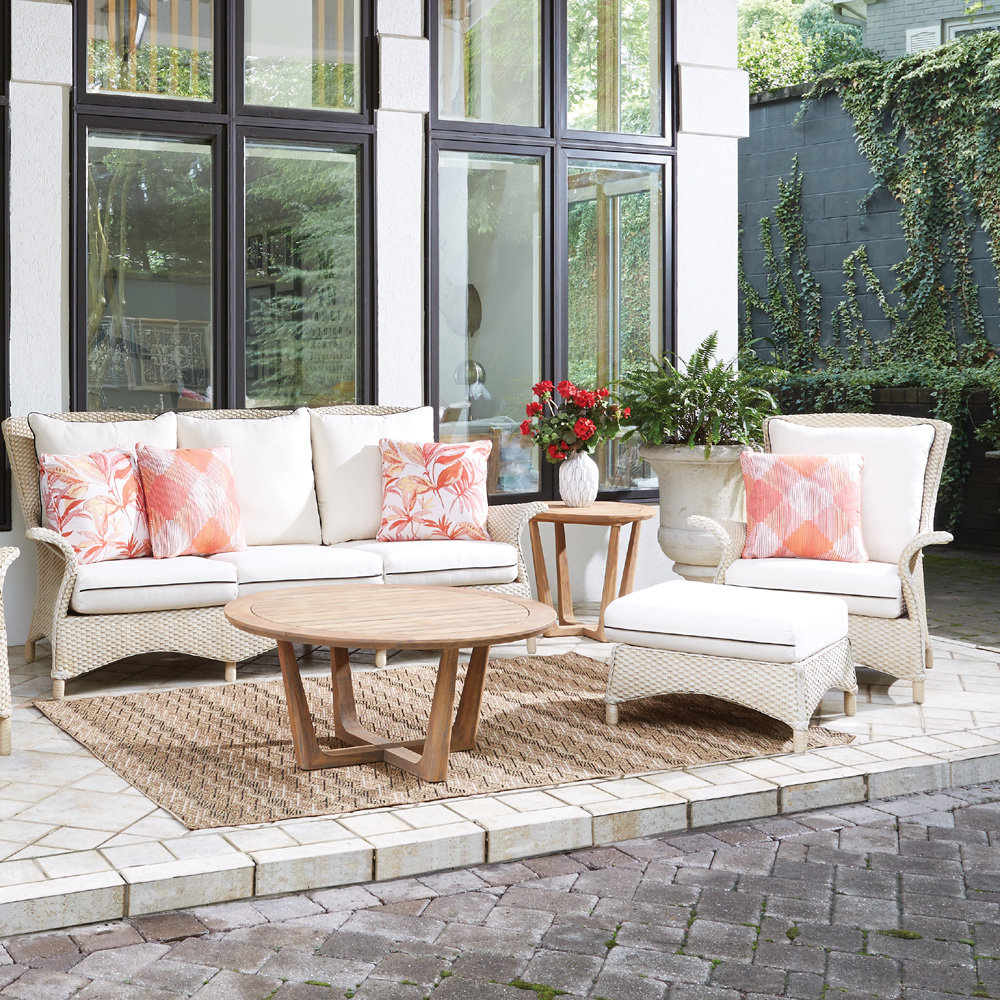 Lloyd Flanders Mandalay Loom Wicker Sofa and Lounge Chair Patio Set - LF-MANDALAY-SET14