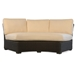 Mesa Curved Wicker Sectional Set with Fire Pit Table - LF-MESA-SET7