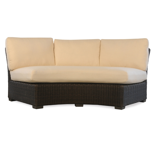 Lloyd flanders mesa curved wicker sofa sectional 298056 for Outdoor furniture covers for curved sofa