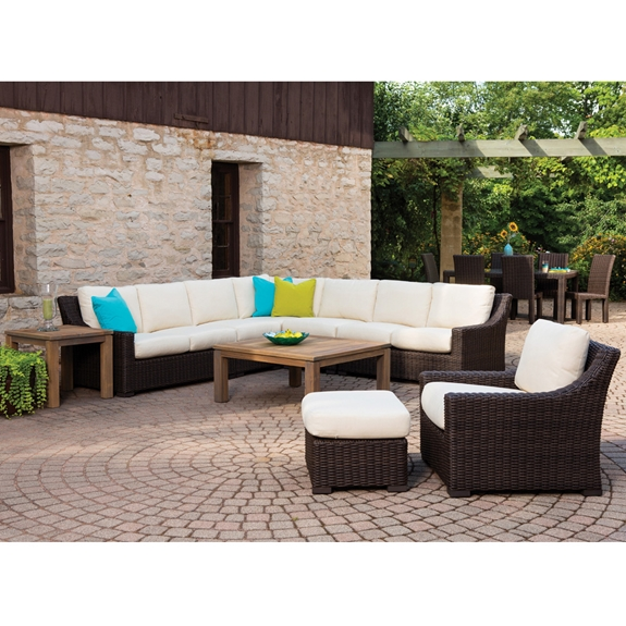 lloyd flanders mesa large l shaped wicker sectional set lf mesa set4. Black Bedroom Furniture Sets. Home Design Ideas