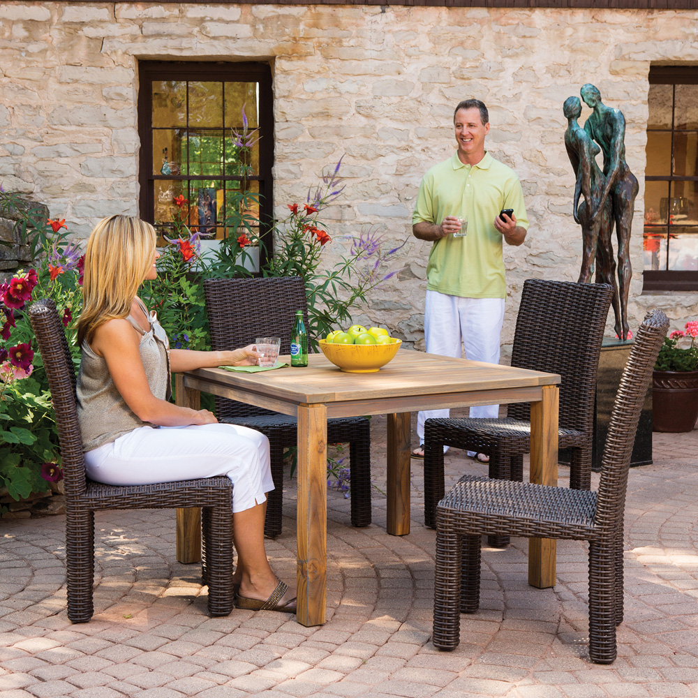 Outdoor Patio Furniture Mesa Az: Lloyd Flanders Mesa 5 Piece Wicker Dining Set With Square