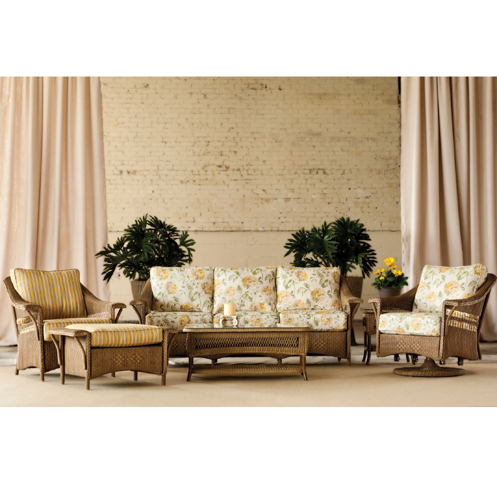 Lloyd Flanders Nantucket Patio Set with Ottoman