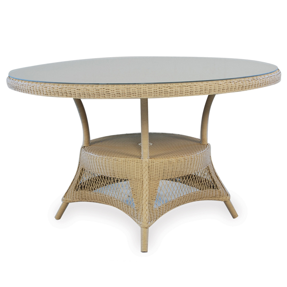Lloyd Flanders Nantucket 48 Quot Round Wicker Dining Table 79048