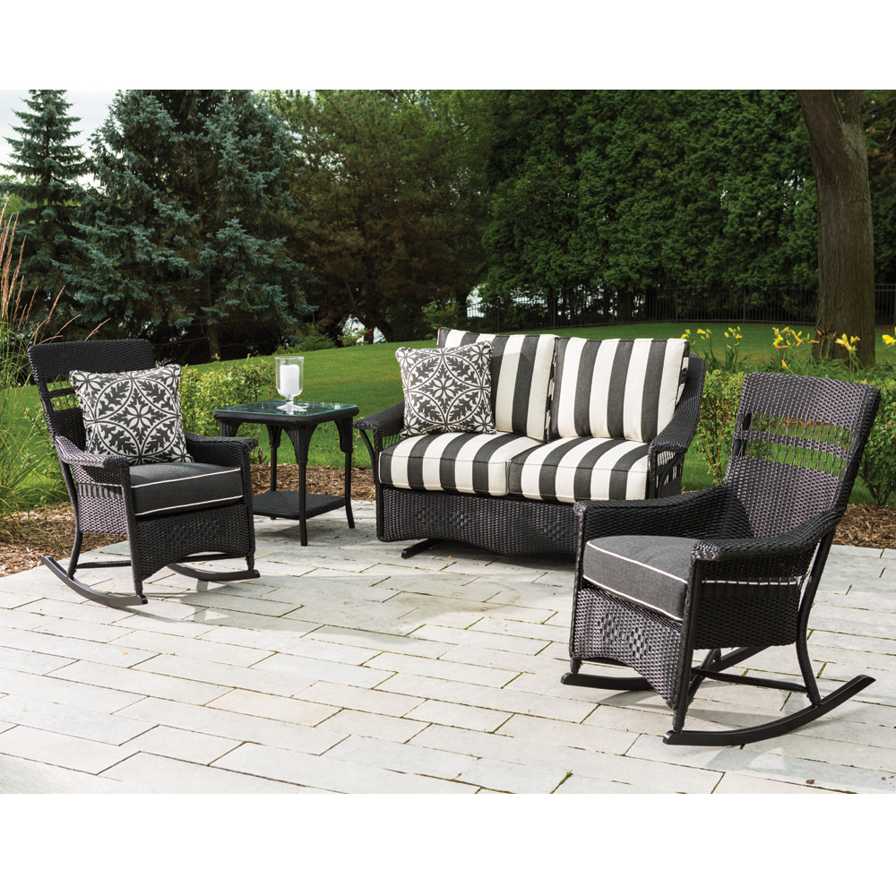 Lloyd Flanders Nantucket  Wicker 4 Piece Motion Patio Set - LF-NANTUCKET-SET13