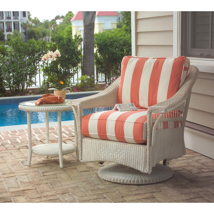 Lloyd Flanders Nantucket Wicker Swivel Glider Set - LF-NANTUCKET-SET14