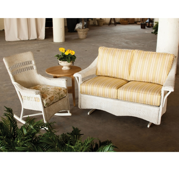 Lloyd Flanders Nantucket 3 Piece Wicker Porch Set Lf