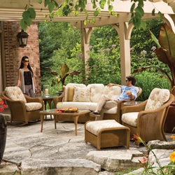 Lloyd Flanders Reflections Crescent Sofa Patio Set
