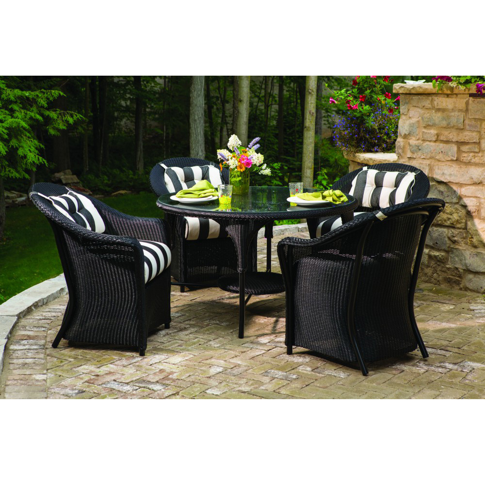 Lloyd Flanders Reflections Loom Wicker 5 Piece Patio Dining Set - LF-REFLECTIONS-SET1