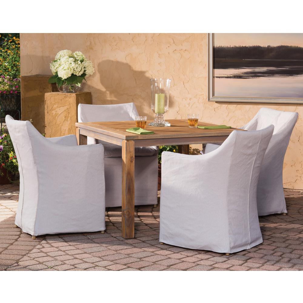 Lloyd Flanders Sea Island Slip Cover Dining Chair