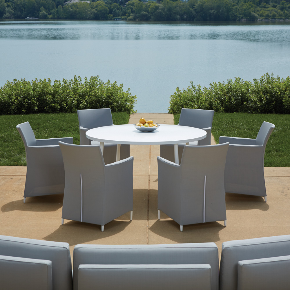 Outdoor dining furniture outdoor dining sets lloyd flanders dining - Lloyd Flanders South Beach Dining Set Lf Southbeach Set3 South Beach Patio