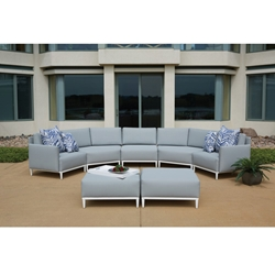 Lloyd Flanders South Beach Curved Sectional Set - LF-SOUTHBEACH-SET5