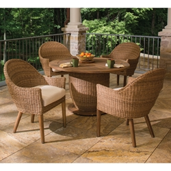 Lloyd Flanders Tobago 5 Piece Patio Dining Set - LF-TOBAGO-SET1