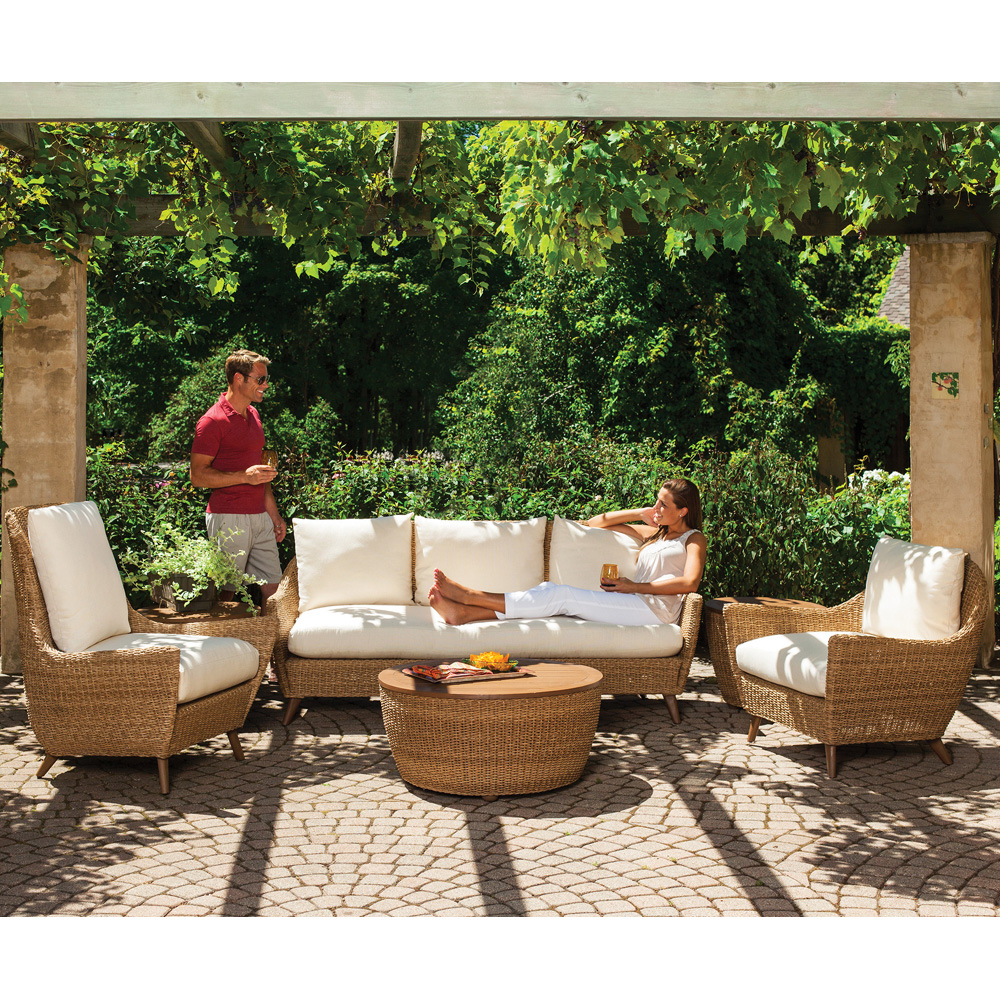Lloyd Flanders Tobago 6 Piece Sofa Patio Set - LF-TOBAGO-SET4
