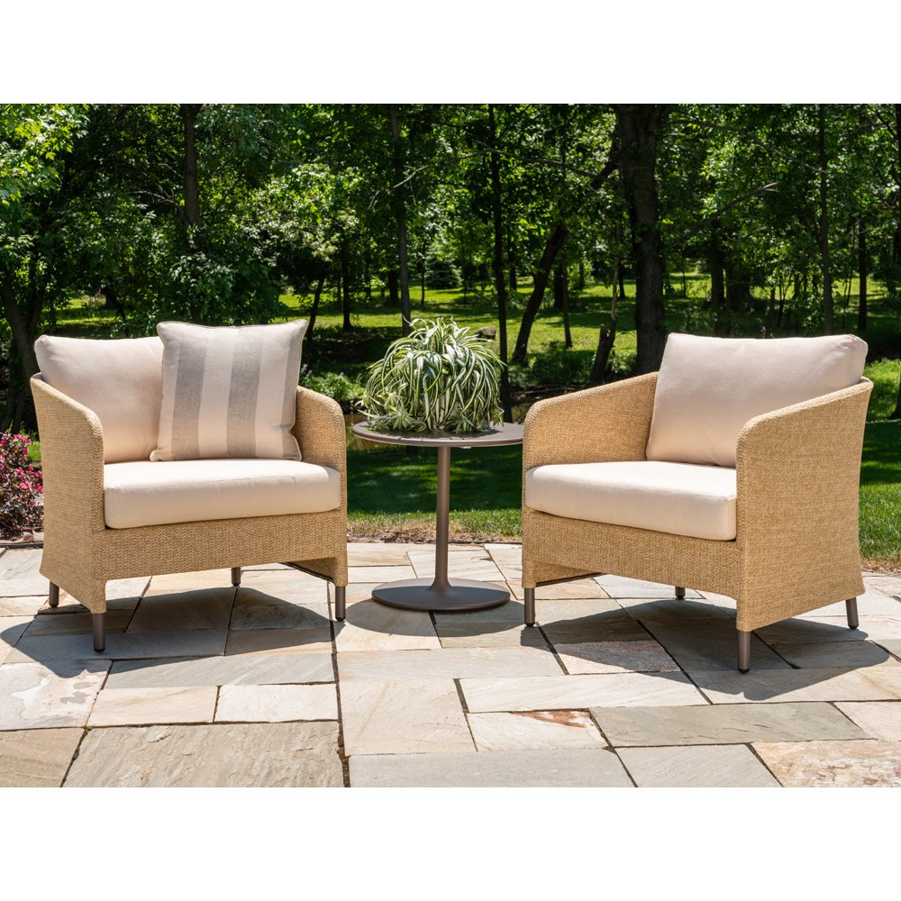 Lloyd Flanders Verona Lounge Chair Patio Set With Side Table Lf