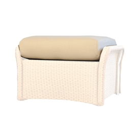 Lloyd Flanders Weekend Retreat Full Wicker Ottoman Cushion - 72927