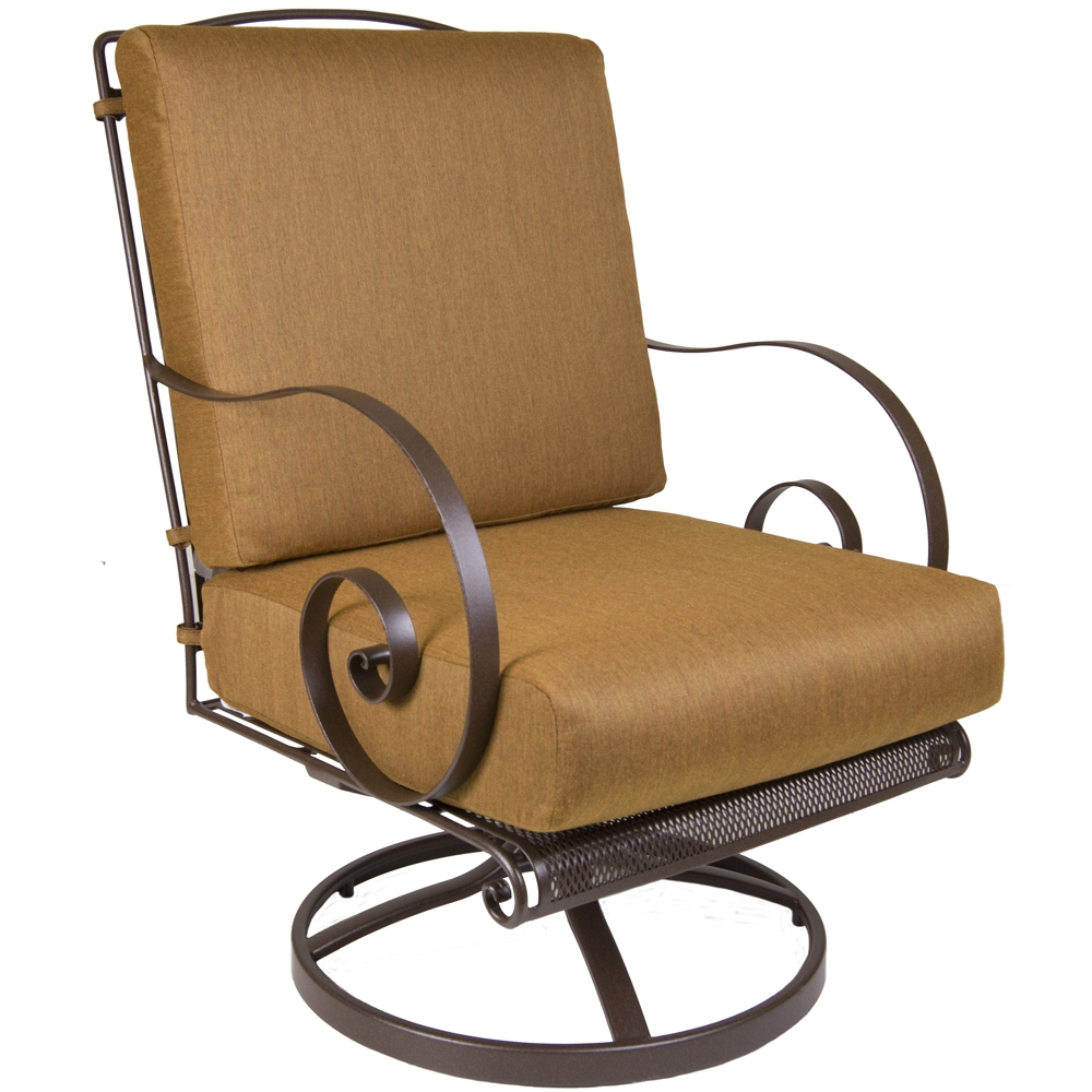 Ow Lee Quick Ship Monterra Swivel Rocker Lounge Chair Qs