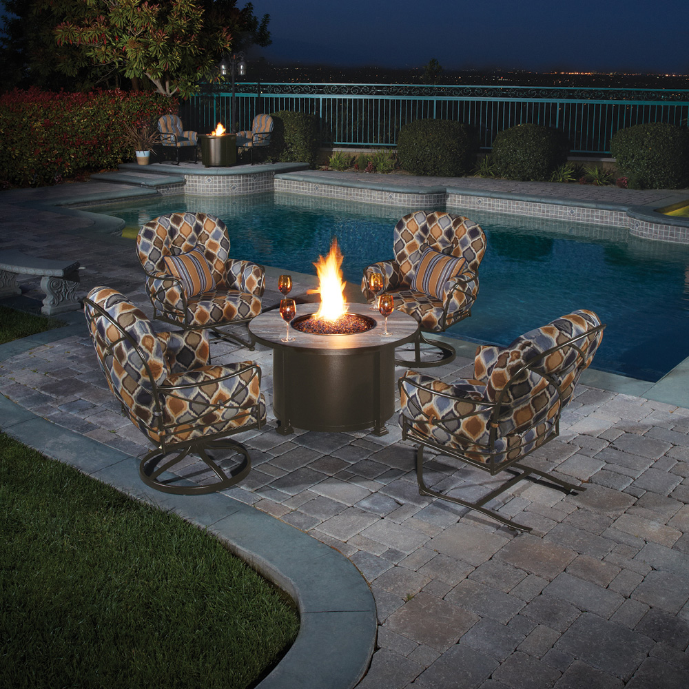 OW Lee Cambria 5 Piece Fire Pit Chat Set  - OW-CAMBRIA-SET2
