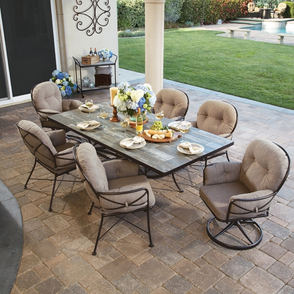 OW Lee Cambria 7 Piece Patio Dining Set - OW-CAMBRIA-SET3