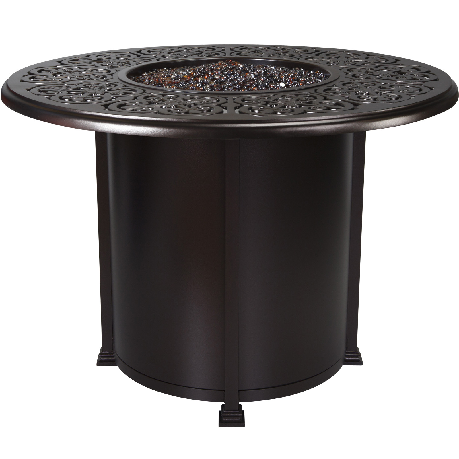 ... OW Lee Hacienda 54 Inch Round Counter Height Fire Pit Table   51 02H ...