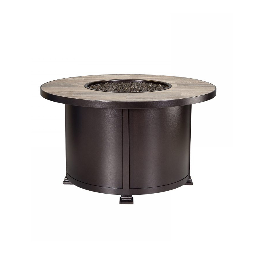 "OW Lee Santorini 42"" Round Chat Height Fire Pit - 5110-42RDC"