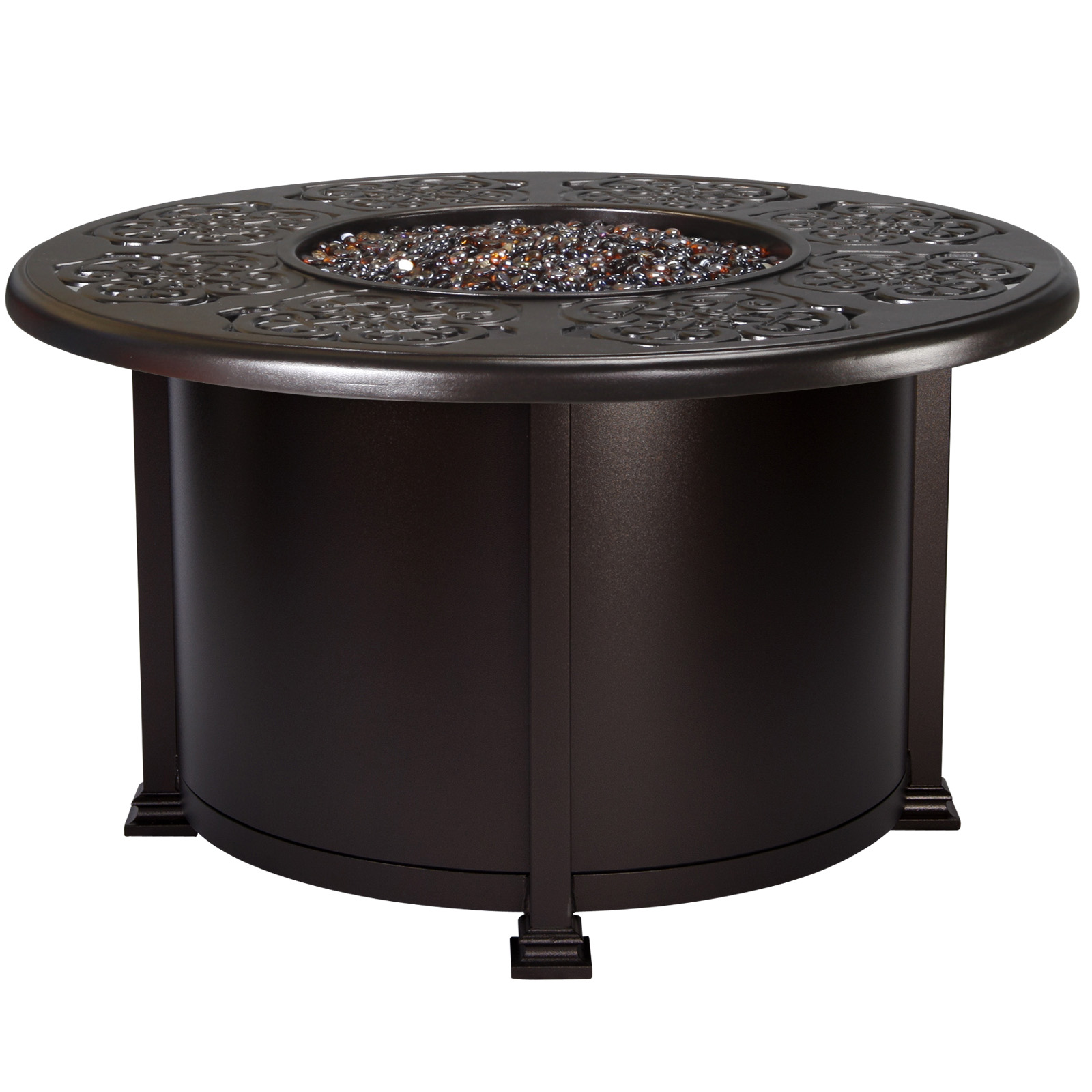 "OW Lee Hacienda 42"" Round Chat Fire Pit Table - 5132-42RDC"