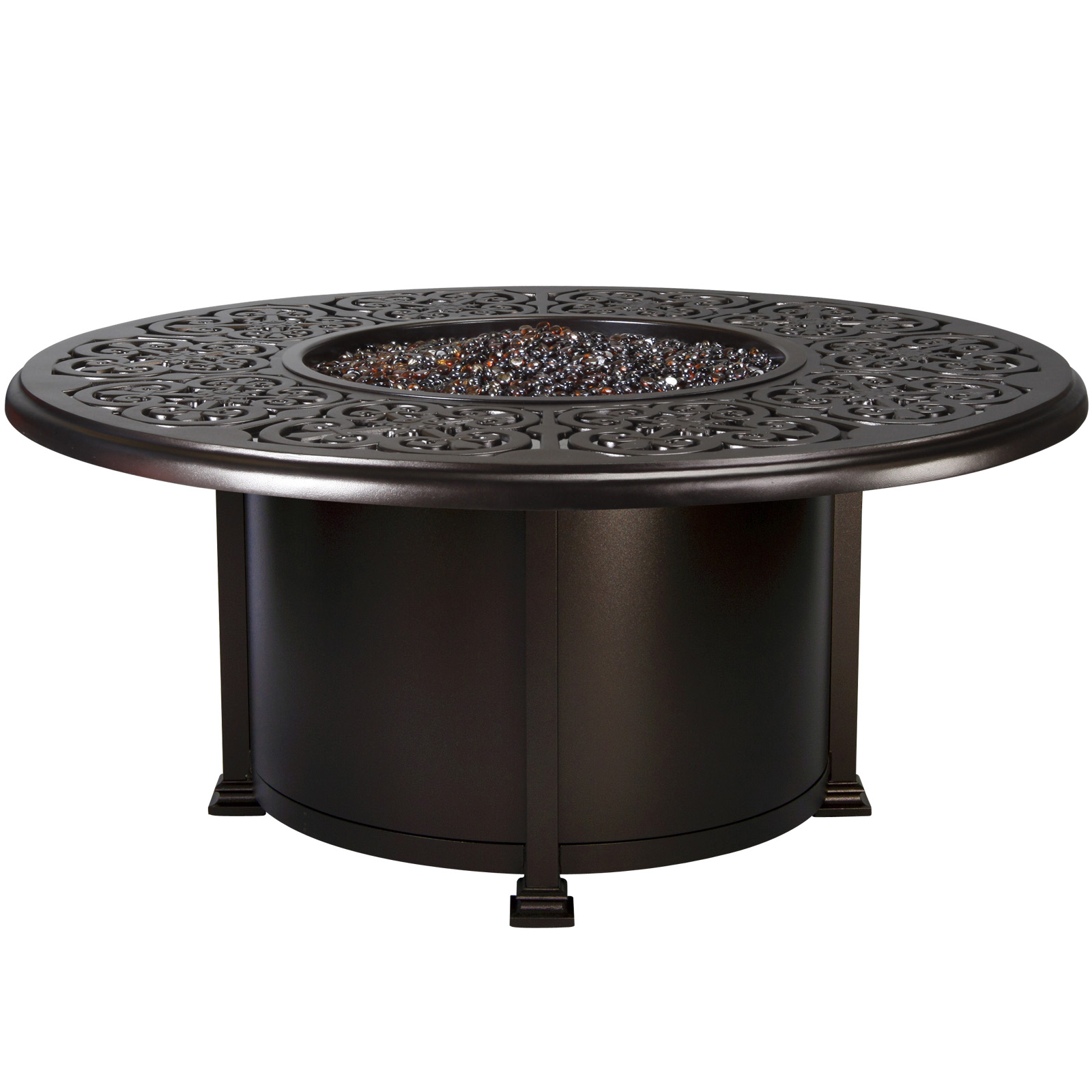 OW Lee Hacienda 54 Inch Round Chat Height Fire Pit Table   51 10H ...