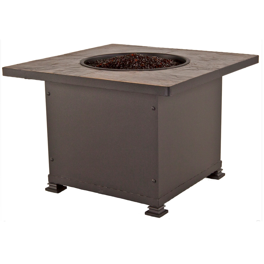 OW Lee Santorini 36 Inch Square Chat Height Fire Pit   51 11A