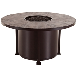 "OW Lee Santorini 54"" Round Dining Height Fire Pit Table - 5110-54RDD"