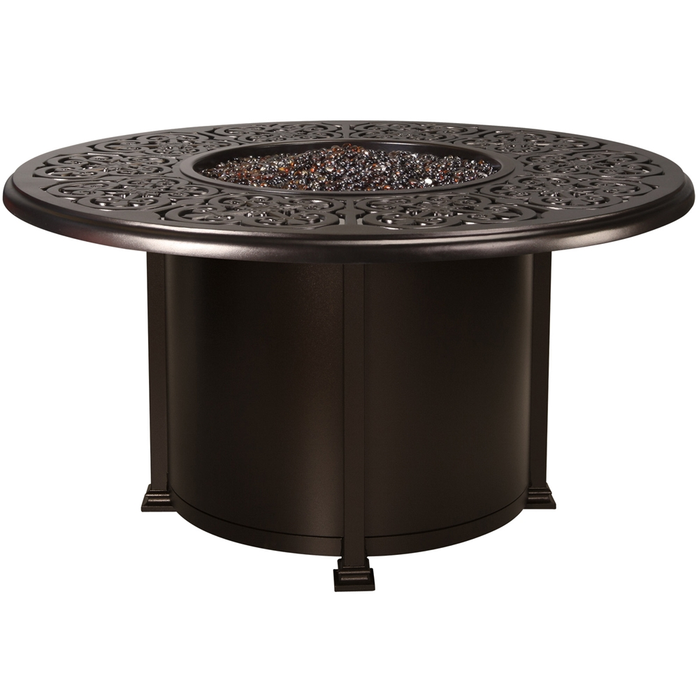 OW Lee Hacienda 54 Inch Round Dining Height Fire Pit Table 51 14H