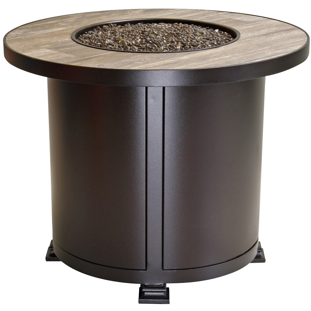 OW Lee Santorini Round Chat Height Fire Pit Table A - 30 inch fire pit table
