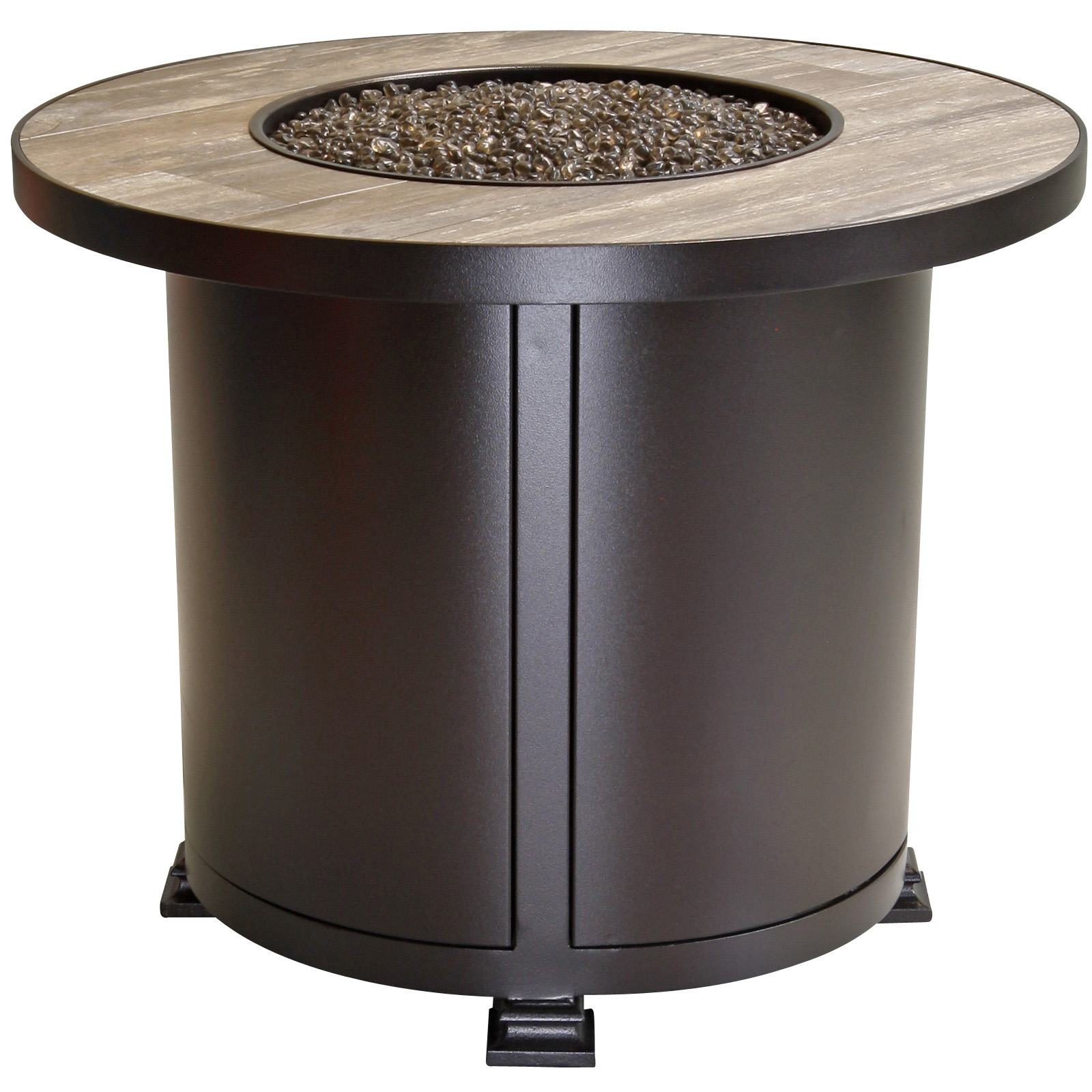 Ow Lee Santorini 30 Quot Round Chat Height Fire Pit Table 51 21a